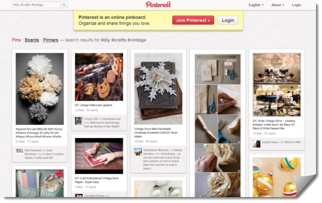 Pinterest Main Website