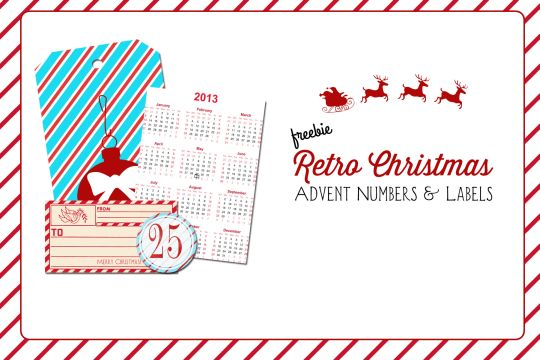 Retro Christmas Numbers And